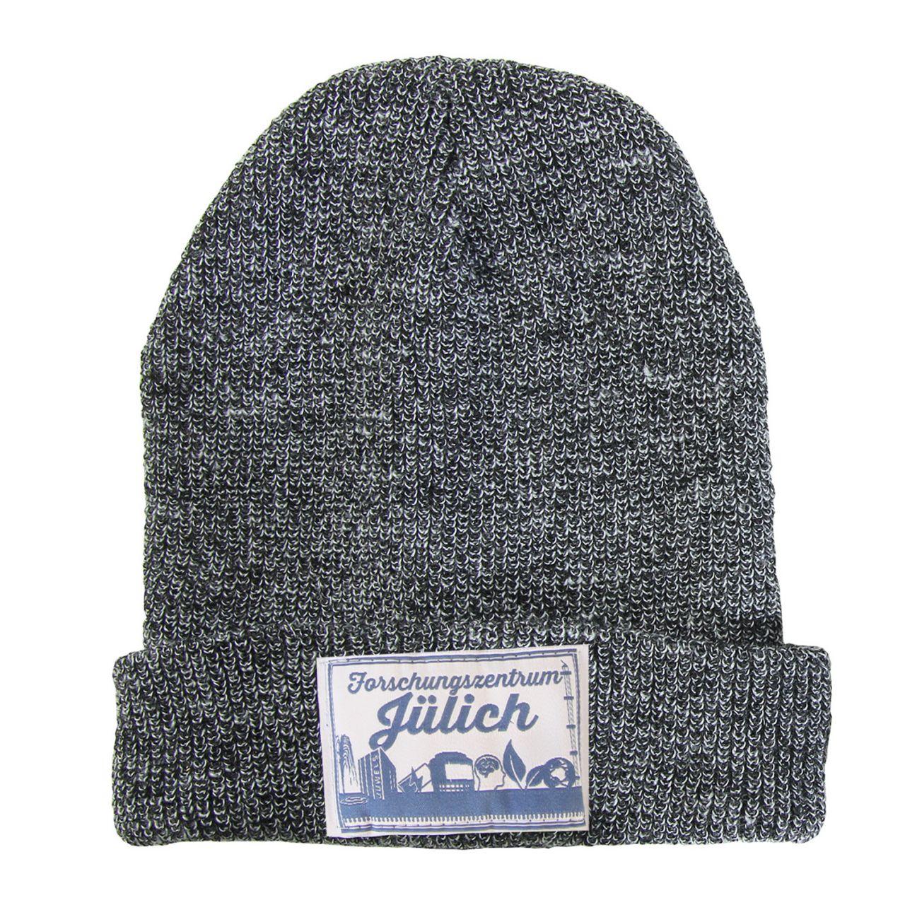 Wollmütze, grey, label