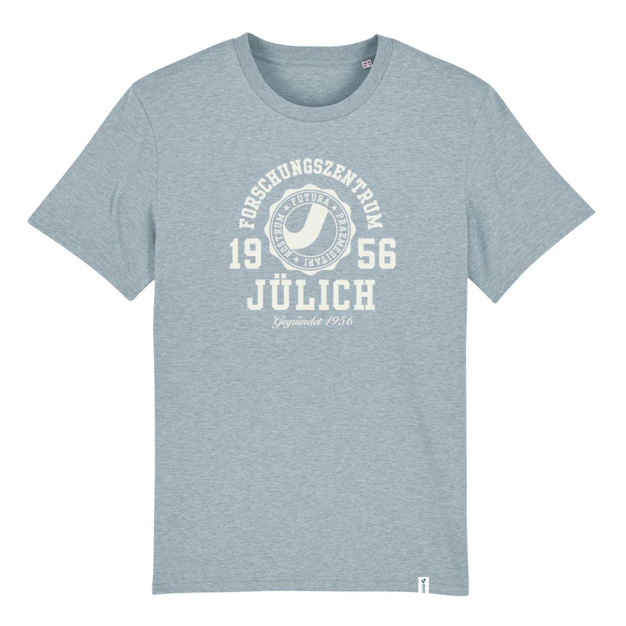 Herren Organic T-Shirt, ice blue, marshall.flock.white
