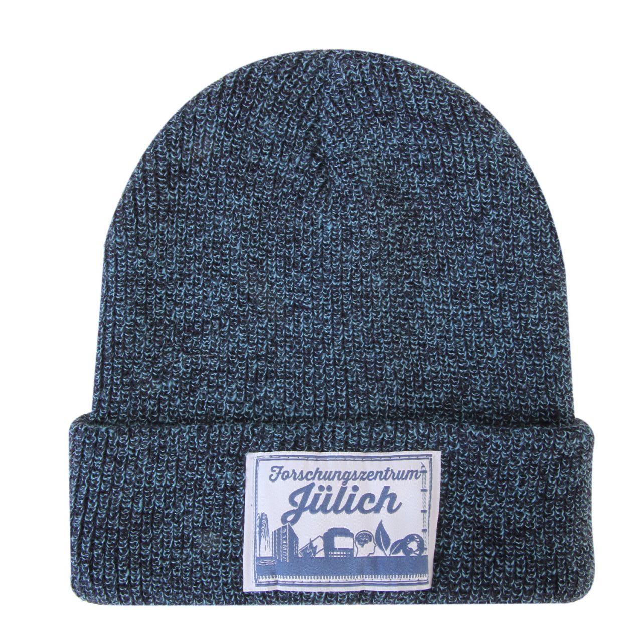 Wollmütze, blue, label