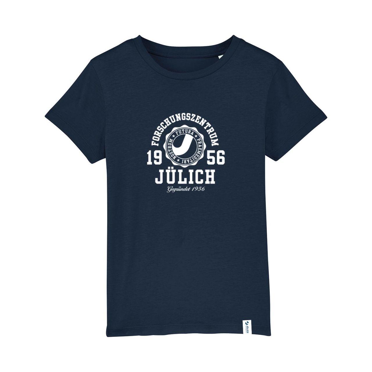 Kids Organic T-Shirt, navy, marshall.kids