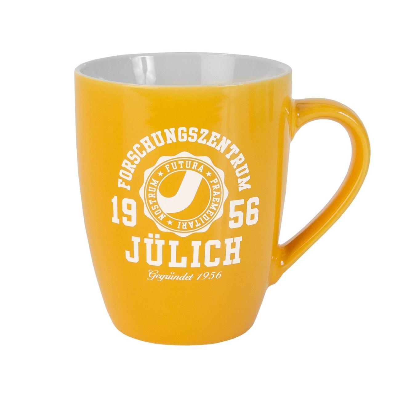Ceramic Mug, yellow, marshall